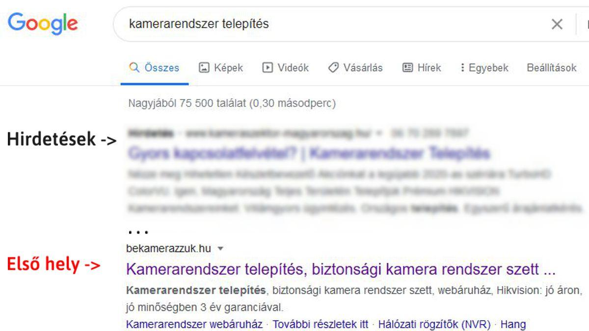 Első helyen a Keresőben 1 év alatt (webáruház SEO) - kuti.hu