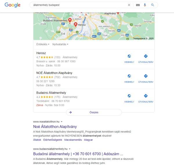 google cégem beállítás