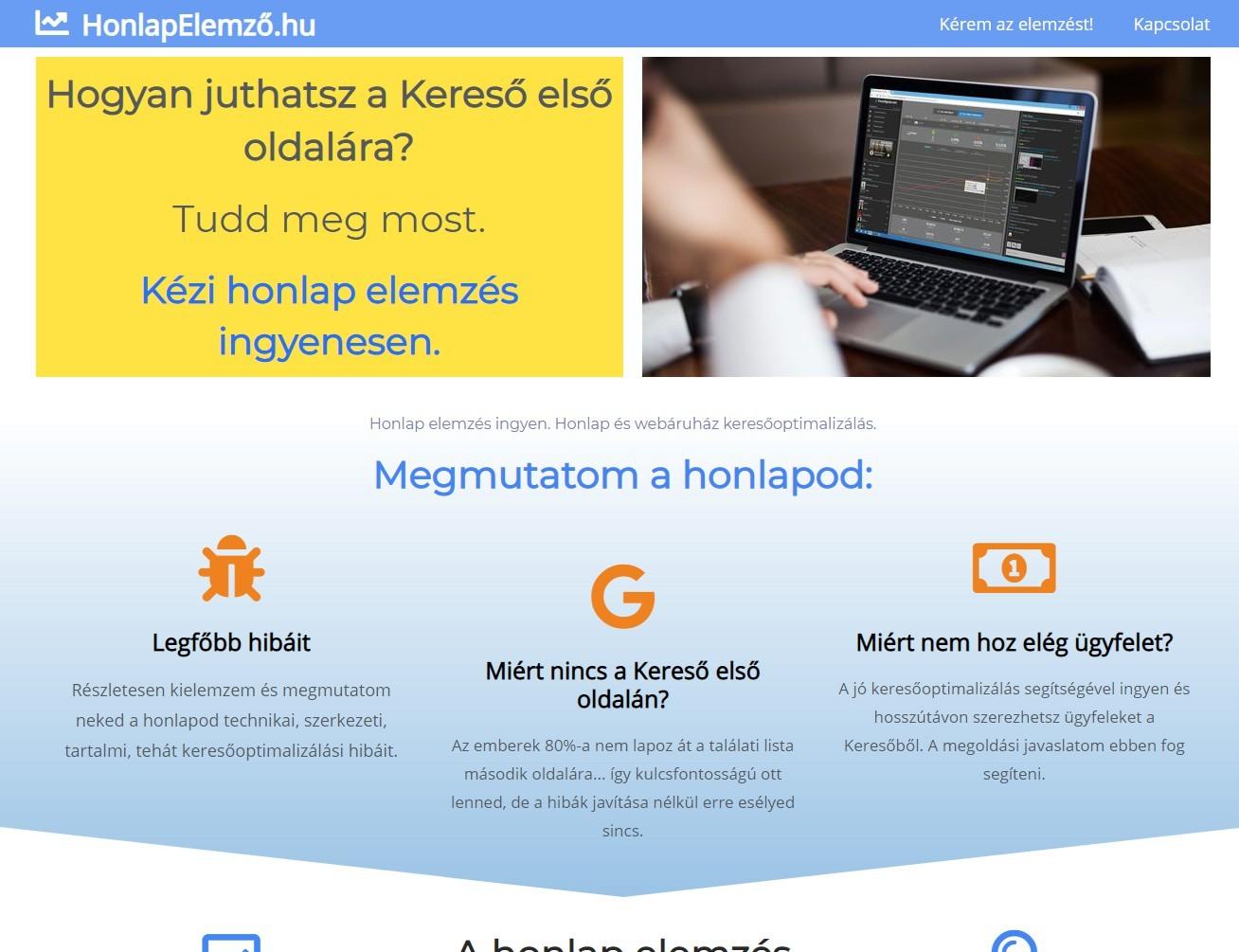 referencia honlapelemző